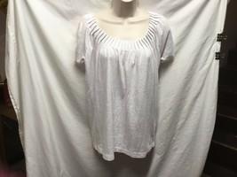 Dana Buchman Sz XS Womens White Knit Top SHirt LIned - $7.12
