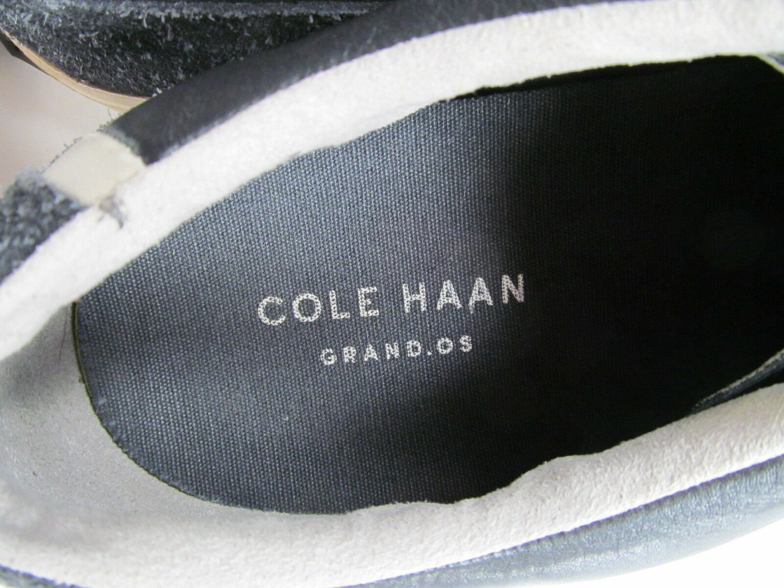 Cole Haan Grand Os Suede & Leather Sneakers shoe mens size 11.5 M