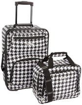 Expandable 2 Piece Set Carry On Luggage Rolling Suitcase Kensington Blac... - $60.78