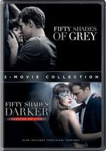 BRAND NEW Fifty Shades of Grey + 50 Shades Darker Complete Movie 1 2 DVD... - $20.42
