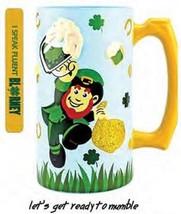 """Top Shelf """"Leprechaun"""" Beer Stein Hand Painted Glass Stein (NIB) - $24.95"""