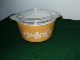 Vintage Pyrex #473 Butterfly Gold 1 casserole dish - $20.00