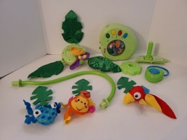 Fisher Price Rainforest Peek-A-Boo Leaves Musical Crib Mobile with Remote Works - $89.99