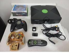 Original Microsoft Xbox Console Bundle  Controller  Cords +Games  remote control - $160.00