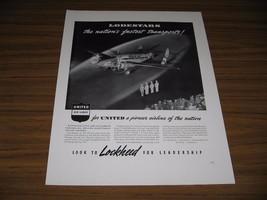 1940 Print Ad United Air Lines Lockheed Lodestar Airplane Burbank,CA - $18.13