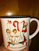"VTG Christmas Hallmark Coffee Mug "" Caught Napping "" 1987  Japan 1987 Cu... - $13.00"