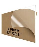 """NIUBEE Acrylic Plexiglass Sheet 12""""x24""""2 Piece,1/8 Inch Thick Clear Plas... - $39.15"""