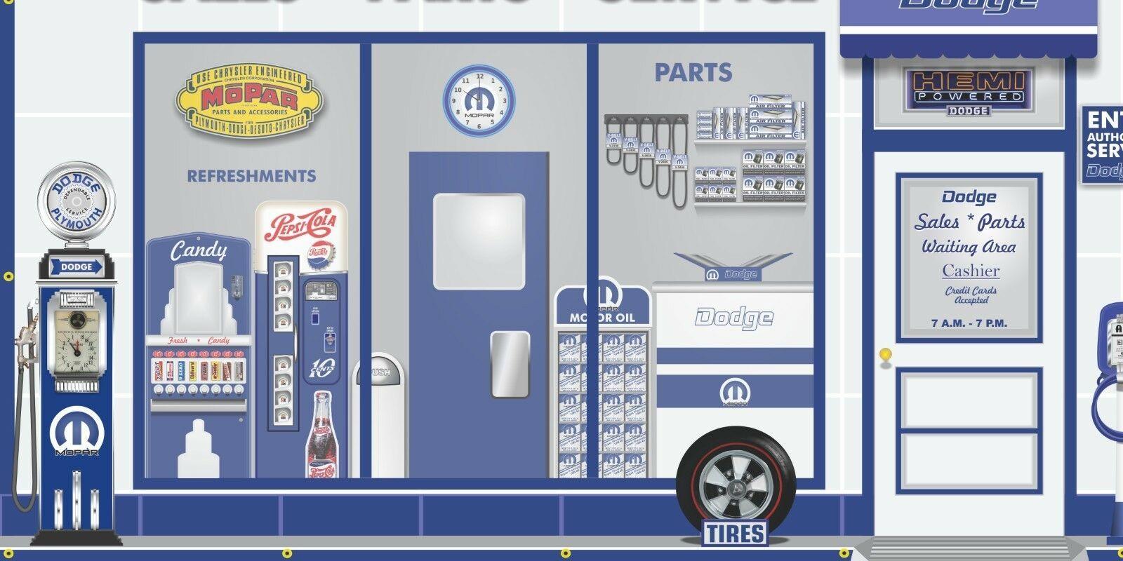 DODGE MOPAR CAR SALES DEALER REPAIR WALL MURAL SIGN BANNER GARAGE ART 8/' X 16/'