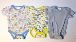 Baby Gear Infant Boys 3 Piece Bodysuit Set Size 3-6 Months VGUC - $8.82