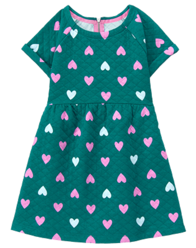 0ec4ca24097 NWT Gymboree Girls Tails of the City Green Heart Quilted Dress Size 7 8 10  -  14.95