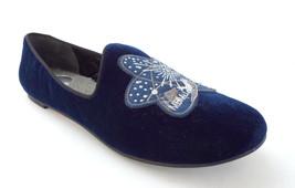 New MARC JACOBS Size 9 Blue Velvet Space Shuttle Slipper Flats Shoes 39 1/2 - $109.00