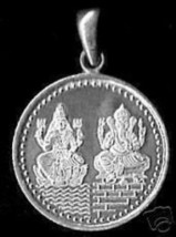 LOOK Hindu GANESH & LAKSHMI OM Sterling Silver Charm Pendant Jewelry luc... - $24.08