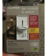 Lutron Fan Control and Slide Switch White SkyLark SFSQ LFH WH Single Pol... - $19.79