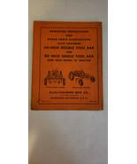 """Allis Chalmers G Tractor 60"""" & 80"""" TOOL BAR Operators & Parts Manual Ori... - $32.63"""