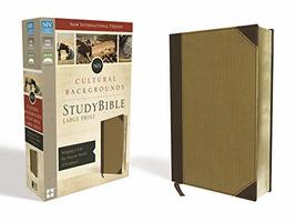 NIV, Cultural Backgrounds Study Bible, Large Print, Leathersoft, Tan, Re... - $99.99