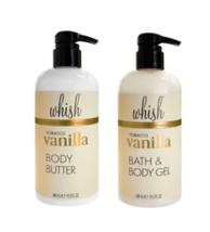 WHISH Tobacco Vanilla Body Butter and Bath & Body Gel, 16.5 fl oz each