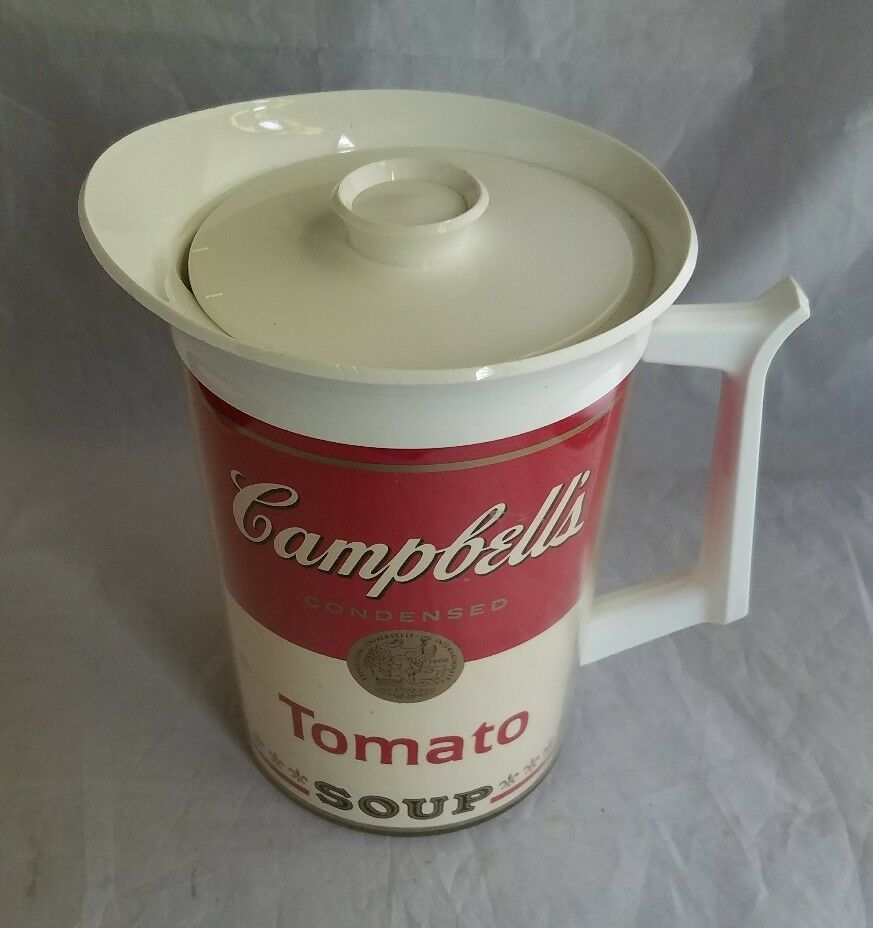 Campbell's Soup Vintage Tomato Soup Pitcher West Bend Thermo-Serv Thermos