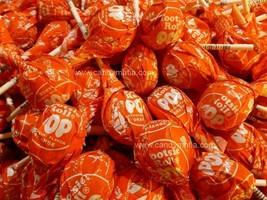 Tootsie Pops ORANGE 30 pops Orange Tootsie pop lollipop bulk candy sucker - £10.15 GBP