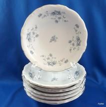 Johann Haviland Blue Garland Berry Bowls Set of 6 White Blue Platinum 5-... - $17.82