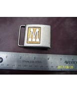 M or W Lee beltbuckle - $2.00