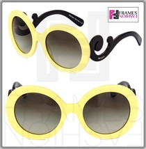 PRADA Minimal Baroque Round Oversized Swirl PR27NS Pale Yellow Black Wom... - $212.95
