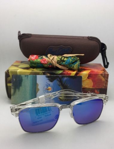 Polarized MAUI JIM Sunglasses KAWIKA MJ 257-05CR Crystal Frames with Blue Hawaii image 2