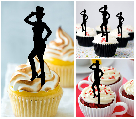 Da001 cupcake toppers America First Jazz Dancers Package : 10 pcs