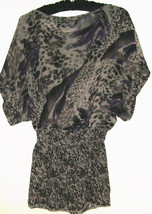 WOMEN'S GRAY PRINTED TOP SIZE M - $11.00