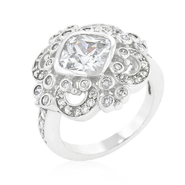 Primary image for Elegant Clear Cubic Zirconia Crest Ring