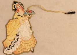 1930s era Woman in Yellow Dress Bunko Tally Card - $14.84