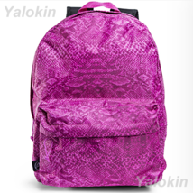 NEW Pink Snake Skin Lightweight Compact Size Fashion Backpack Shoulder B... - $23.99