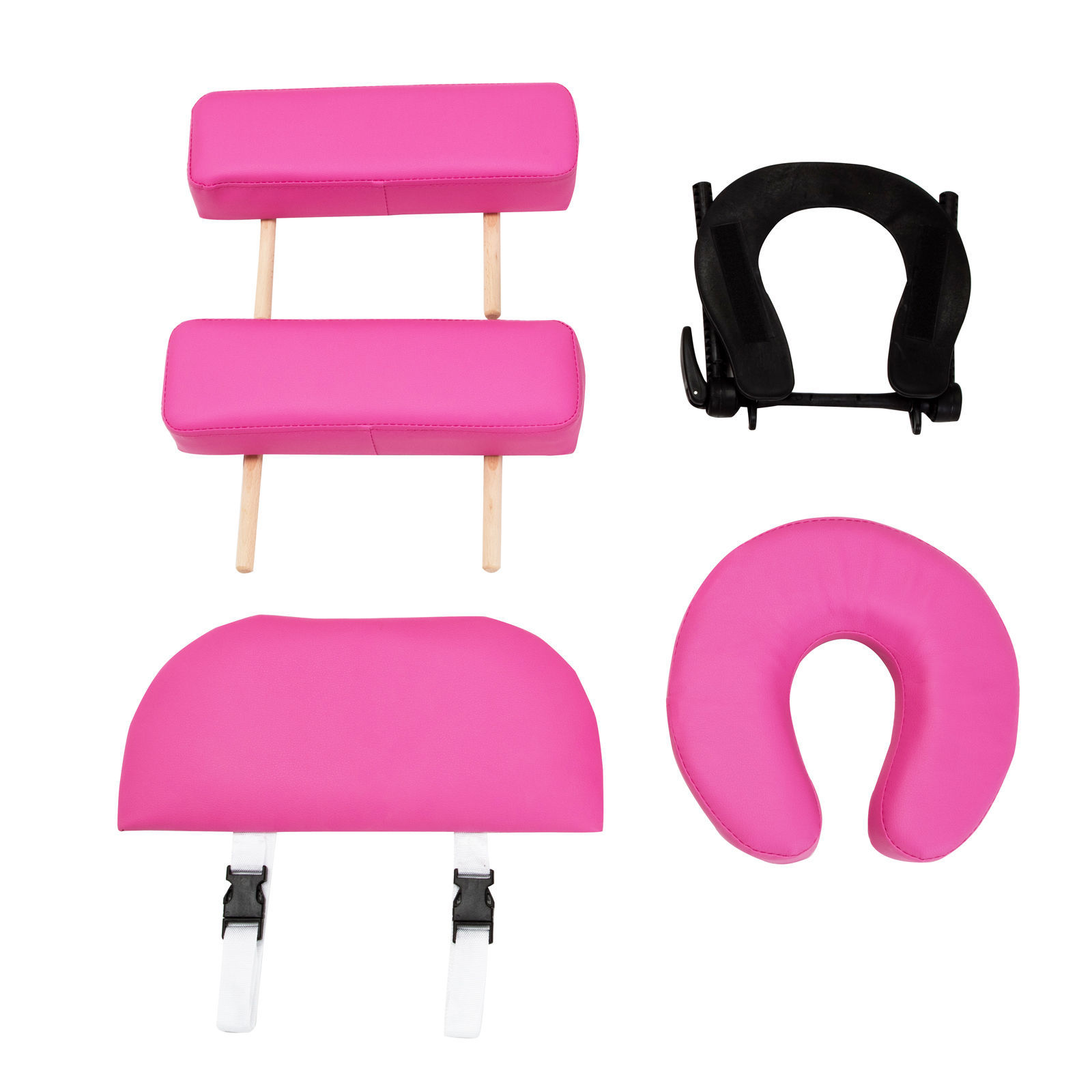 """Pink 84""""L Portable Fold Massage Table Facial SPA Beauty Bed Tattoo With Case"""