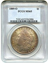 1889-O $1 PCGS MS65 - Pretty and Original - Morgan Silver Dollar - $3,550.20