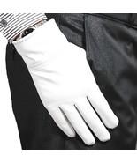 100% Genuine Leather(NO PU) White/ Black Warm winter Gloves Wedding Part... - $12.86+
