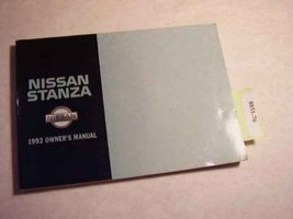 1992 Nissan Stanza Owners Manual [Paperback] [Jan 01, 1992] Nissan - $9.89