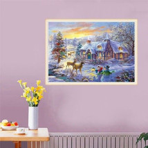 5D Diamond Painting Christmas Deer Embroidery Home Full Drill Cross Stitch Kits - $17.33