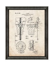 Basketball Hoop Patent Print Old Look with Black Wood Frame - $24.95+