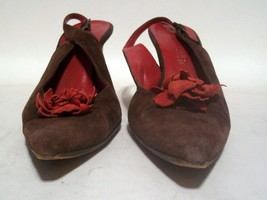 KENNETH COLE LADIES BROWN SUEDE HIGH HEEL SHOES SIZE 7 ALL LEATHER MADE ... - $36.63