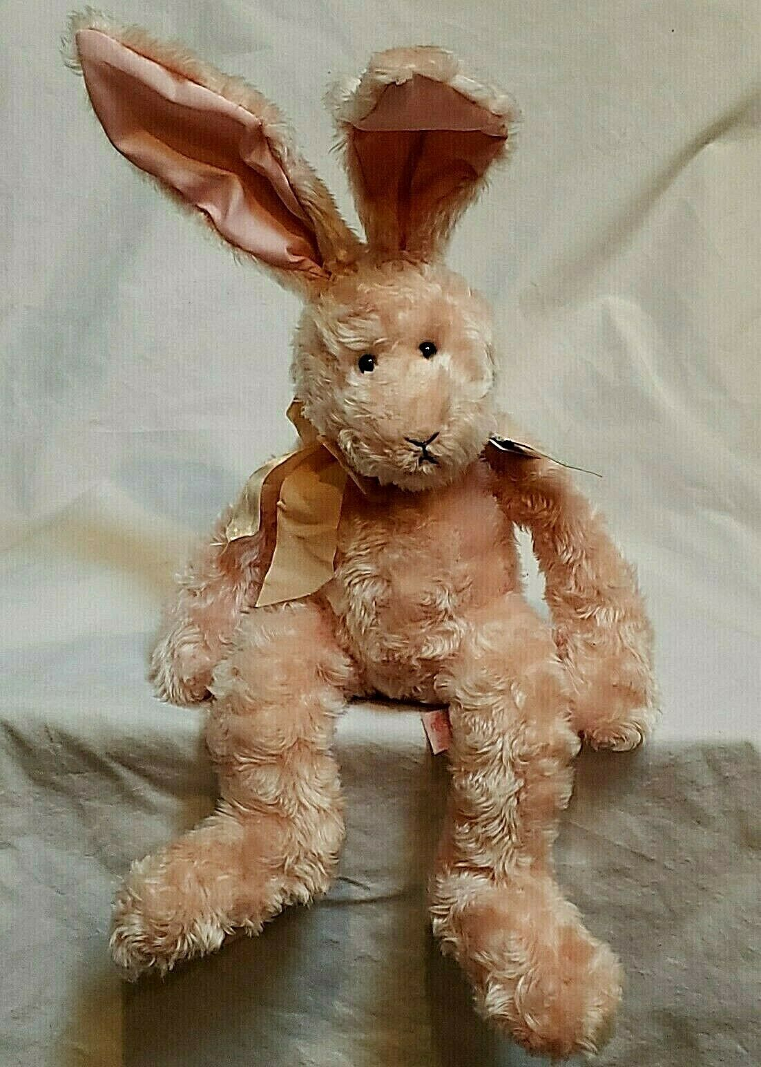 "Primary image for Russ Berrie Plush Pink Bunny Rabbit Cranberry Patch Mimosa Posable 20"" Vtg 90s"
