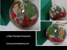 LI BIEN Ornament NIB Inside Painting Tradition 1998 Santa's Lap - $15.99