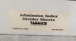 Tabbies 14500 Medical Admission File Index Tabs & Chart Divider Sheets 4... - $34.64