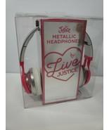 Justice LIVE Girls Metallic Headphones NWT 2019 - $15.83