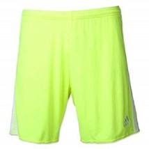 Adidas Men's Regi 14 Short Electro Green/White F50575 Size Large - $19.79
