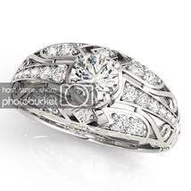 1.19 Carat White Sim Diamond 10k White Gold Filled 925 Engagement Ring - $1.117,50 MXN