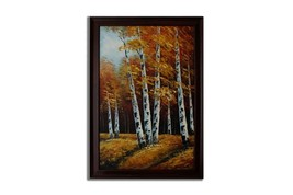 Ansavv In The Woods Multicolor Oil On Canvas Painting - $234.00