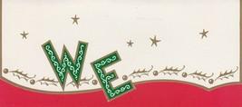Vintage Christmas Card WE in Mid Century Lettering Sidney A. Burgoyne - $8.90