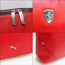 PUMA FERRARI WOMEN'S F1 TEAM SHOPPING TOTE LARGE BAG RED PMMO1033 NEW W/ DEFECTS image 4