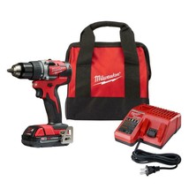 M18 18-Volt Lithium-Ion Brushless Cordless 1/2 in. Compact Drill/Driver ... - $147.77