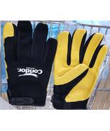 Work Gloves, MECHANICS GLOVES, M, Black/Gold, #42KZ85 - $8.99