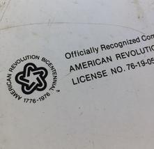"""Vintage 70s 1776-1976 bicentennial round metal 11"""" tray image 6"""